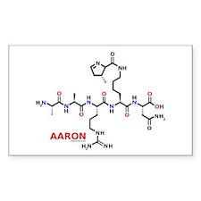 Aaron name molecule Rectangle Decal