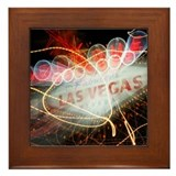 Vegas Sign Framed Tile