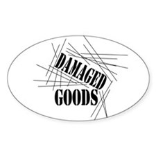 Damaged Goods Oval Sticker (50 pk)