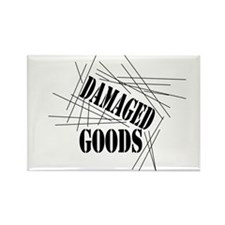 Damaged Goods Rectangle Magnet