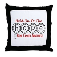 HOPE Bone Cancer 6 Throw Pillow