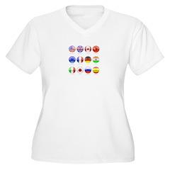 un circles Women's Plus Size V-Neck T-Shirt