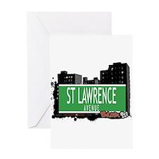 ST LAWRENCE AVENUE, BRONX, NYC Greeting Card