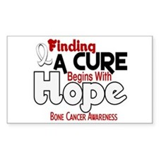 HOPE Bone Cancer 5 Rectangle Decal