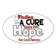 HOPE Bone Cancer 5 Oval Sticker (50 pk)