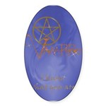 Twilight Know What You Are Oval Sticker (50 pk)