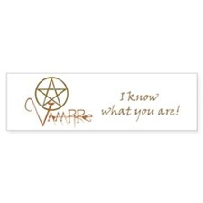 Twilight Know What You Are Bumper Sticker (50 pk)