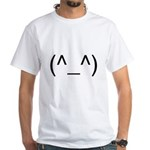 Geeky Face White T-Shirt
