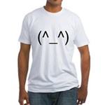 Geeky Face Fitted T-Shirt