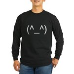 Geeky Face Long Sleeve Dark T-Shirt