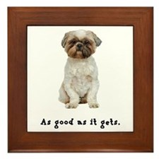 Good Lhasa Apso Framed Tile