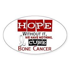HOPE Bone Cancer 2 Oval Decal