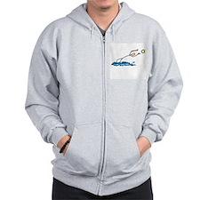 Stick figure Water Polo Zip Hoodie