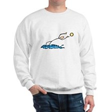 Stick figure Water Polo Sweatshirt