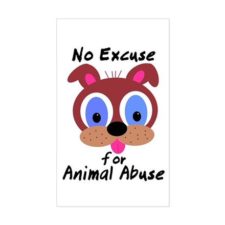 No Excuse Rectangle Sticker