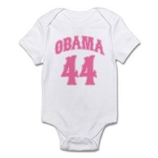 Obama pink 44 Infant Bodysuit
