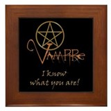 Twilight Know What You Are Framed Tile