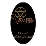 Twilight Know What You Are Oval Sticker (10 pk)