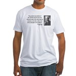 Bertrand Russell 17 Fitted T-Shirt