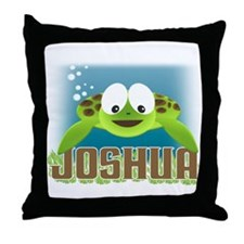 Adorable Joshua Turtle Throw Pillow