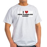 I Love Swiss Warmblood  Horse Ash Grey T-Shirt