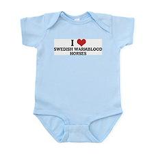 I Love Swedish Warmblood Hors Infant Creeper