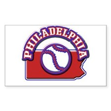 Philadelphia Baseball Rectangle Sticker 10 pk)