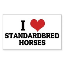 I Love Standardbred Horses Rectangle Decal