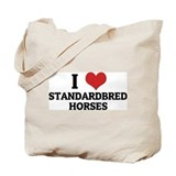 I Love Standardbred Horses Tote Bag
