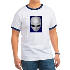 Alien Stare T - Navy/White (Front & Back)