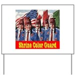 Shriner Color Guard Yard Sign