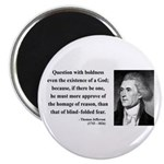 "Thomas Jefferson 5 2.25"" Magnet (100 pack)"