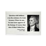 Thomas Jefferson 5 Rectangle Magnet (100 pack)