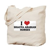 I Love Shagya Arabian Horses Tote Bag
