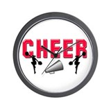 Megaphone Cheerleading Wall Clock