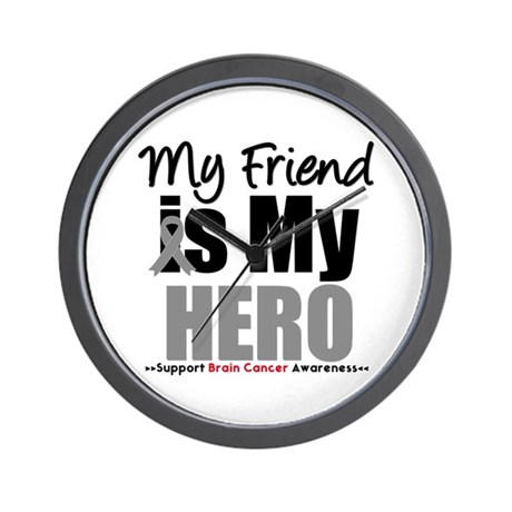 BrainCancerHero Friend Wall Clock