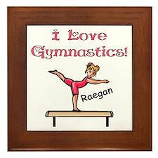 -I Love Gymnastics (Raegan) Framed Tile