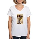 Valentine Cherub Women's V-Neck T-Shirt