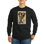 Valentine Cherub Long Sleeve Dark T-Shirt