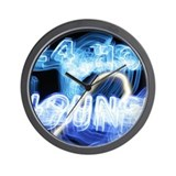 24 Hour Lounge Neon Wall Clock