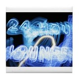 24 Hour Lounge Neon Tile Coaster
