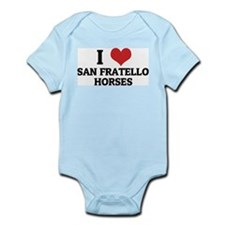 I Love San Fratello Horses Infant Creeper