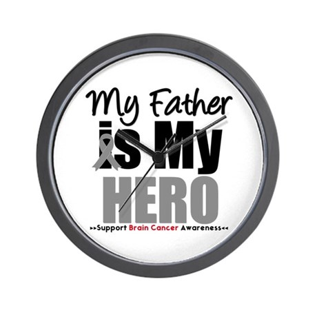 BrainCancerHero Father Wall Clock