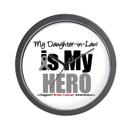 BrainCancerHero DaughterinLaw Wall Clock