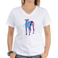 Greyhound with Heart Shirt