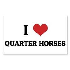 I love Quarter Horses Rectangle Decal