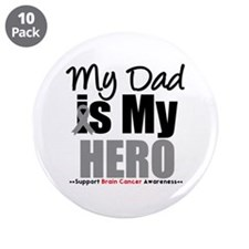 "BrainCancerHero Dad 3.5"" Button (10 pack)"