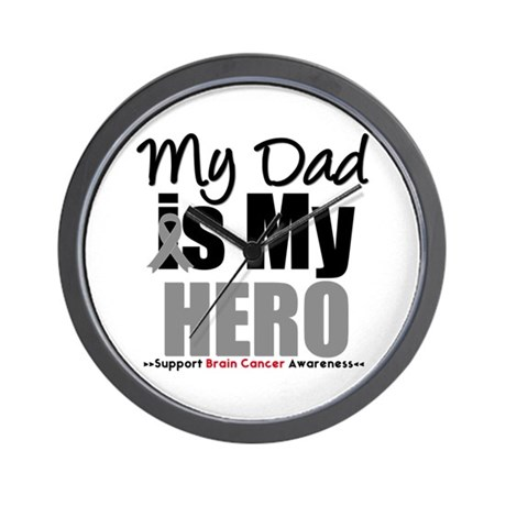 BrainCancerHero Dad Wall Clock
