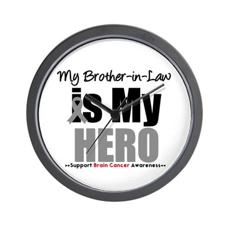 BrainCancerHero BrotherinLaw Wall Clock