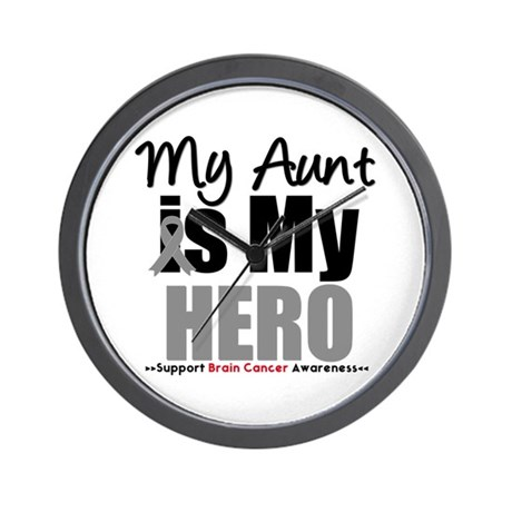 BrainCancerHero Aunt Wall Clock
